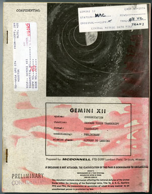 NASA -GEMINI XII ONBOARD VOICE TRANSCRIPT LOVELL ALDRIN