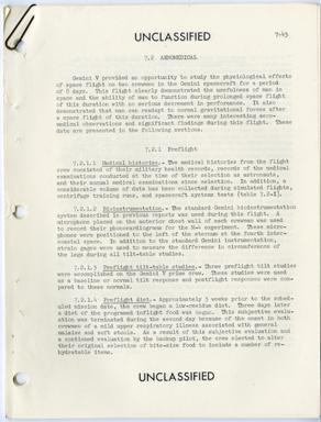 NASA - GEMINI V - AEROMEDICAL REPORT (1965)