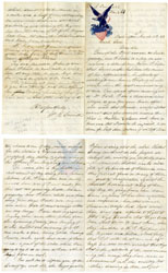Handwritten Letter to EZRA CORNELL - UNIVERSITY 1863