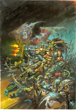 SIMON BISLEY - TYLER/MELTING POT COVER ORIG ART BATTLE