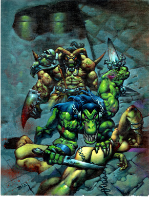 SIMON BISLEY - MELTING POT #1 COVER ORIG ART 1993 TYLER