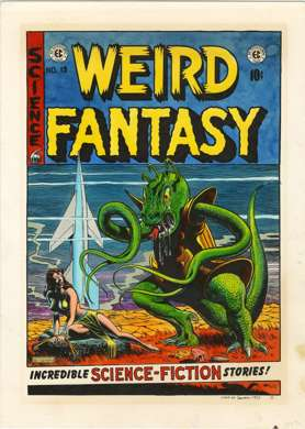 MARIE SEVERIN Orig HAND-COLORED PRINT WEIRD FANTASY #15