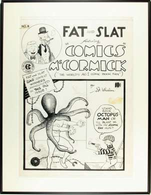 ED WHEELAN Orig FAT and SLAT #4 COVER Art - EC 1948