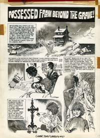 RAFAEL AURALEON - CREEPY #51 INSIDE BACK COVER ORIG ART