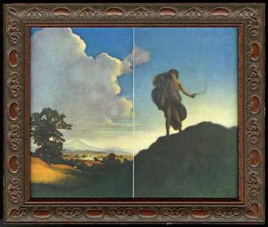 MAXFIELD PARRISH - KEAT'S POEM to AUTUMN - 1904 Century