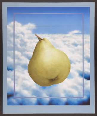 "CHARLEY BROWN - ""FRAMED PEAR AND CLOUDS"" Acrylic"