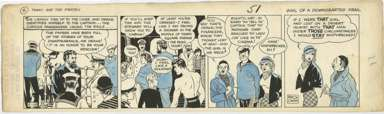 MILTON CANIFF - TERRY & PIRATES DAILY 1935 NORMANDIE