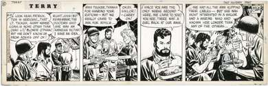 MILTON CANIFF - TERRY & THE PIRATES DAILY ORIG ART 1943