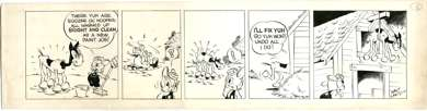 WALTER LANTZ - OSWALD THE RABBIT DAILY STRIP ORIG ART