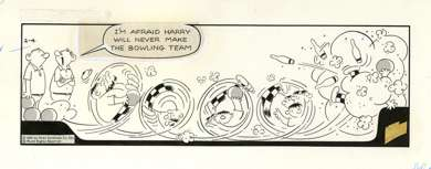 GEORGE GATELY - HAPLESS HARRY DAILY ORIG ART 2-4-65