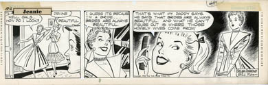 GILL FOX - JEANIE DAILY STRIP ORIG ART 10-02-52