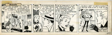 GILL FOX - JEANIE DAILY STRIP ORIG ART 10-09-52