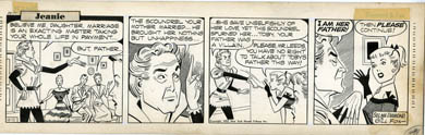 GILL FOX - JEANIE DAILY STRIP ORIG ART 10-11-52