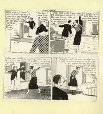 H.J. TUTHILL - BUNGLE FAMILY DAILY STRIP ORIG ART 3-28