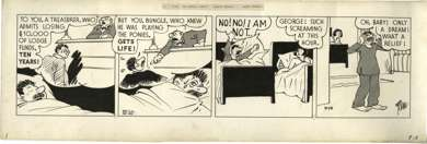 H.J. TUTHILL - BUNGLE FAMILY DAILY STRIP ORIG ART 9-18