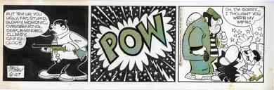 FRANK ROBERGE - MRS FITZ'S FLATS DAILY ORIG ART 8-27-69