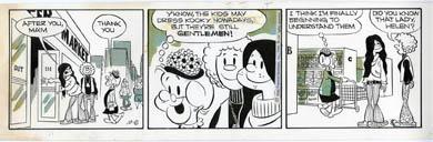 FRANK ROBERGE - MRS FITZ'S FLATS DAILY ORIG ART 10-8-69