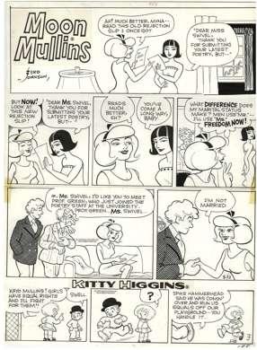 FERD JOHNSON - MOON MULLINS SUNDAY ORIGINAL ART 5-12-74