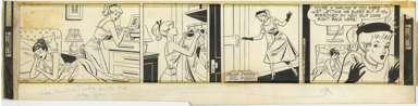 GILL FOX - JEANIE DAILY STRIP 1951 ORIG ART - NEW SLIP