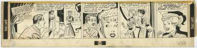GILL FOX - JEANIE DAILY ORIG ART 1951 - BAWLED OUT