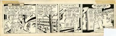 GILL FOX - JEANIE DAILY STRIP ORIG ART 2-19-53 CAST