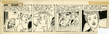GILL FOX - JEANIE DAILY STRIP ORIG ART 2-21-53 MOTHER