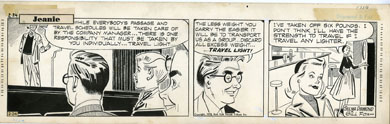 GILL FOX - JEANIE COMIC STRIP DAILY ORIG ART 2-24-53
