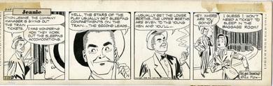 GILL FOX - JEANIE COMIC STRIP DAILY ORIG ART 2-25-53