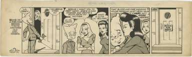GILL FOX - BERNIE BLOOD DAILY ORIG ART - PEGGY & NAOMI