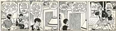 CHARLIE PLUMB - ELLA CINDERS DAILY ORIGINAL ART 7-22-42