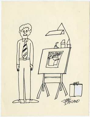 JOHN DAXLAND - PANEL CARTOON ORIG ART - DRAWING BOARD