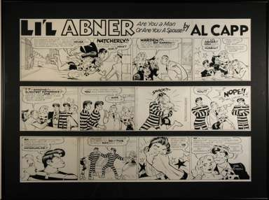 AL CAPP STUDIOS - LI'L ABNER SUNDAY dated 12-18-1960 ORIG ART GAT GARSON