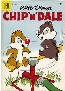 COVER PROOF FOR CHIP 'N' DALE #7 (1956) SPRINKLERS