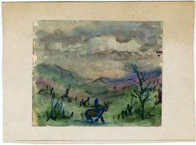 JOSEPHINE MAHAFFEY (1903-1982) - Landscape w/ HORSE