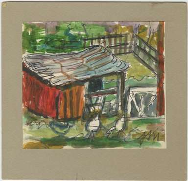 JOSEPHINE MAHAFFEY (1903-1982) - CHICKEN COOP - TEXAS