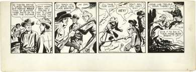 TOM/CHUCK McKIMSON - ROY ROGERS DAILY ORIG ART  5-24-50