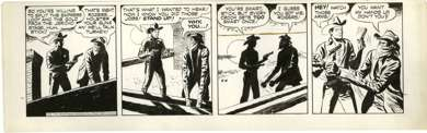 TOM/CHUCK McKIMSON - ROY ROGERS DAILY ORIG ART  4-4-50