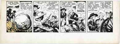 TOM/CHUCK McKIMSON - ROY ROGERS DAILY ORIG ART 10-17-50