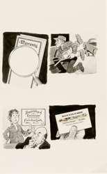 BOB CLARKE - MAD #208 WARRANTY / BUSINESS CARD ORIG ART