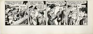 TOM/CHUCK McKIMSON - ROY ROGERS DAILY ORIG ART  7-14-50