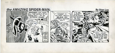 FRED KIDA - SPIDER-MAN DAILY ORIG ART 03-2-82 DR. DOOM