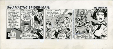 FRED KIDA - SPIDER-MAN DAILY ORIG ART 07-4-84 JAMESON