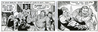 LARRY LIEBER - SPIDER-MAN DAILY ART 10-22-93 STANDOFF
