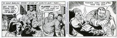 LARRY LIEBER - SPIDER-MAN DAILY ART 10-22-93 STANDOFF