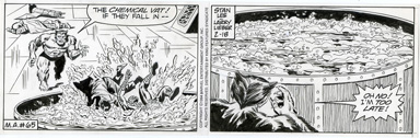LARRY LIEBER - SPIDER-MAN DAILY ART  2-4-94 BEAST /ACID