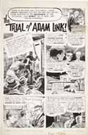 JOE ORLANDO - CREEPY #4 CMPLT 7-PG ADAM LINK STORY ART