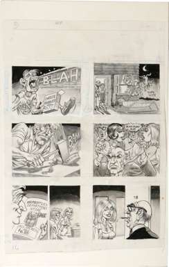BILL WARD - CRACKED PAGE CHEESE DOODLES ORIGINAL ART