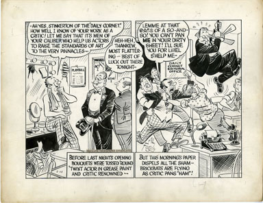 AL FAGALY - OUGHTA BE A LAW DAILY ORIG ART  PLAY CRITIC