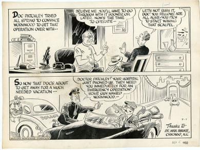 AL FAGALY - OUGHTA BE A LAW DAILY ORIG ART - DOCTOR