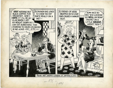 AL FAGALY -OUGHTA BE A LAW DAILY ORIG ART - DIETING